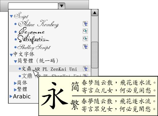 micro soft fonts